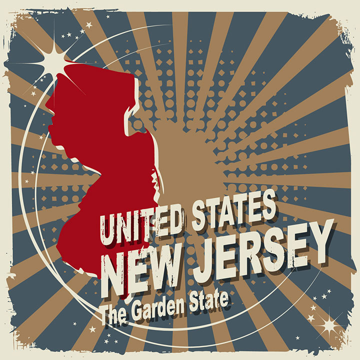 abstract new jersey map
